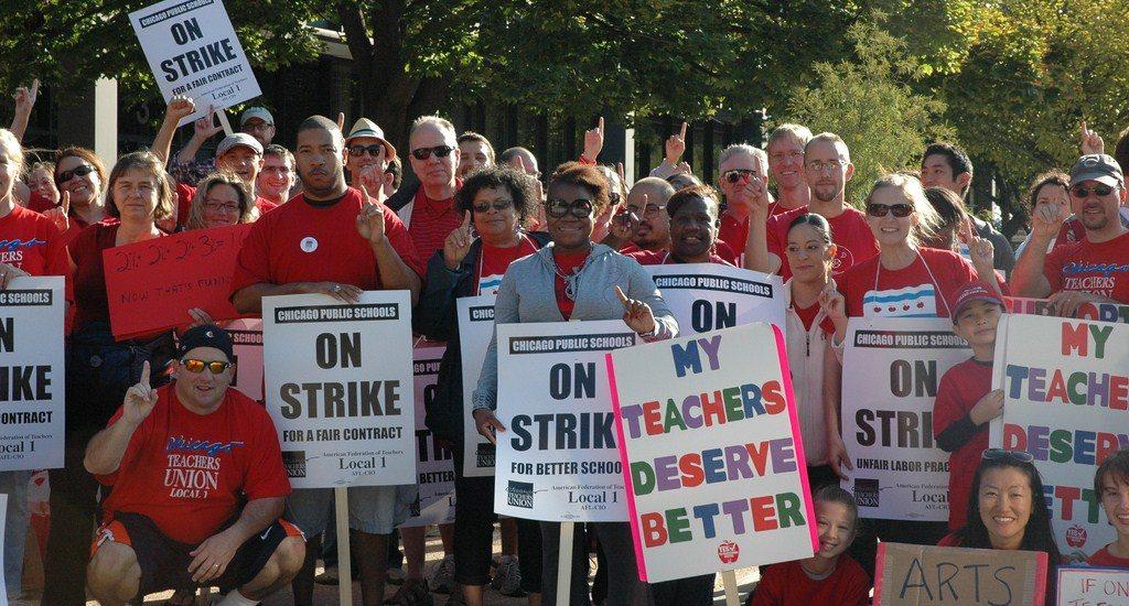 CTU Members at protest