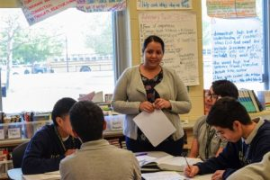 Nancy Serrano, a bilingual teacher at Hernández Middle School, was an English learner at CPS herself and is acutely aware of the challenges her students face.